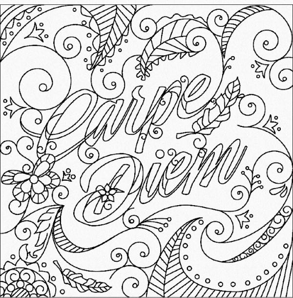 Carpe Diem, desenho para colorir | Desenhos com Frases ...