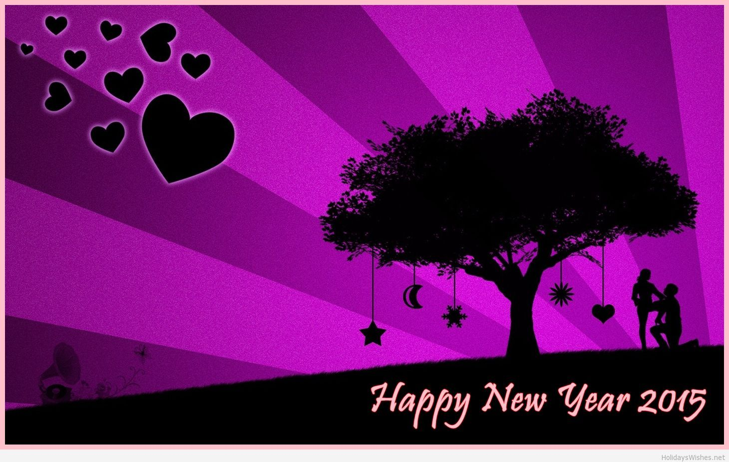 purple new year wallpapers