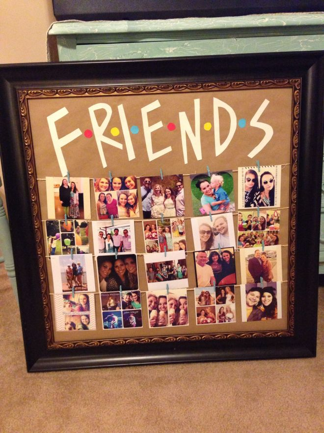Friends tv show picture frame diy party ideas crafts