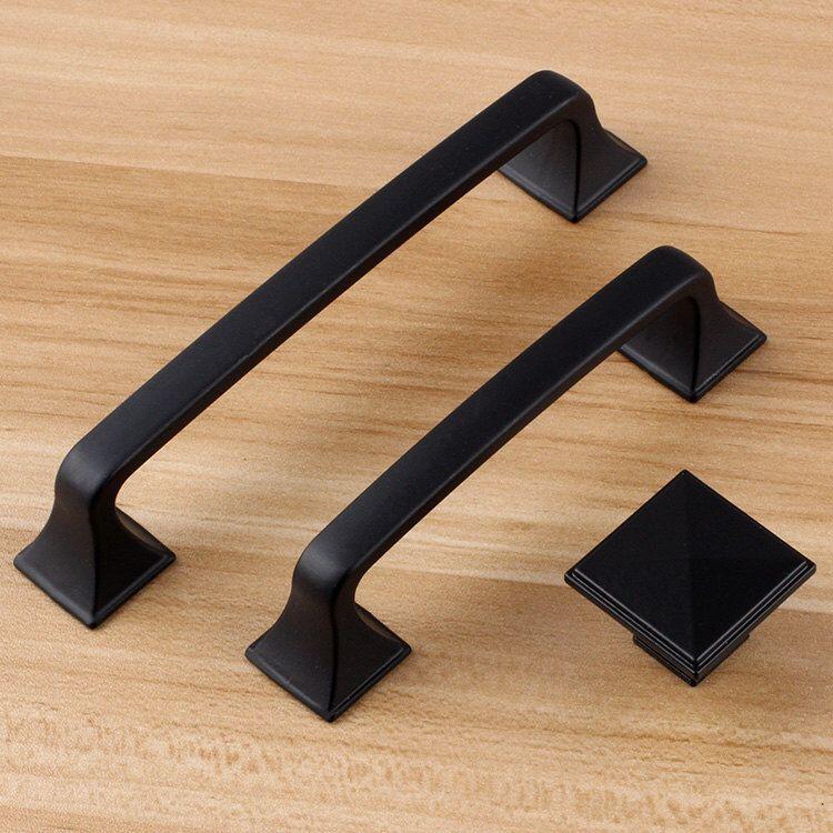 5 3 75 black dresser handle door knob pull knob pulls handles kitchen cabinet pull handle on kitchen cabinets knobs id=24809