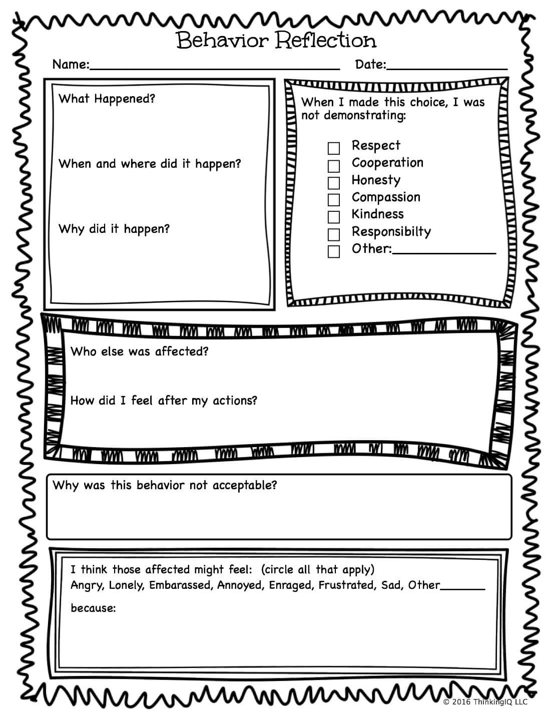 Making Better Choices Worksheet