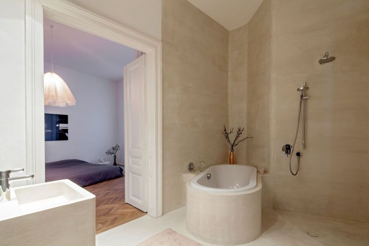 What is this finish used on European bathroom walls Love the look