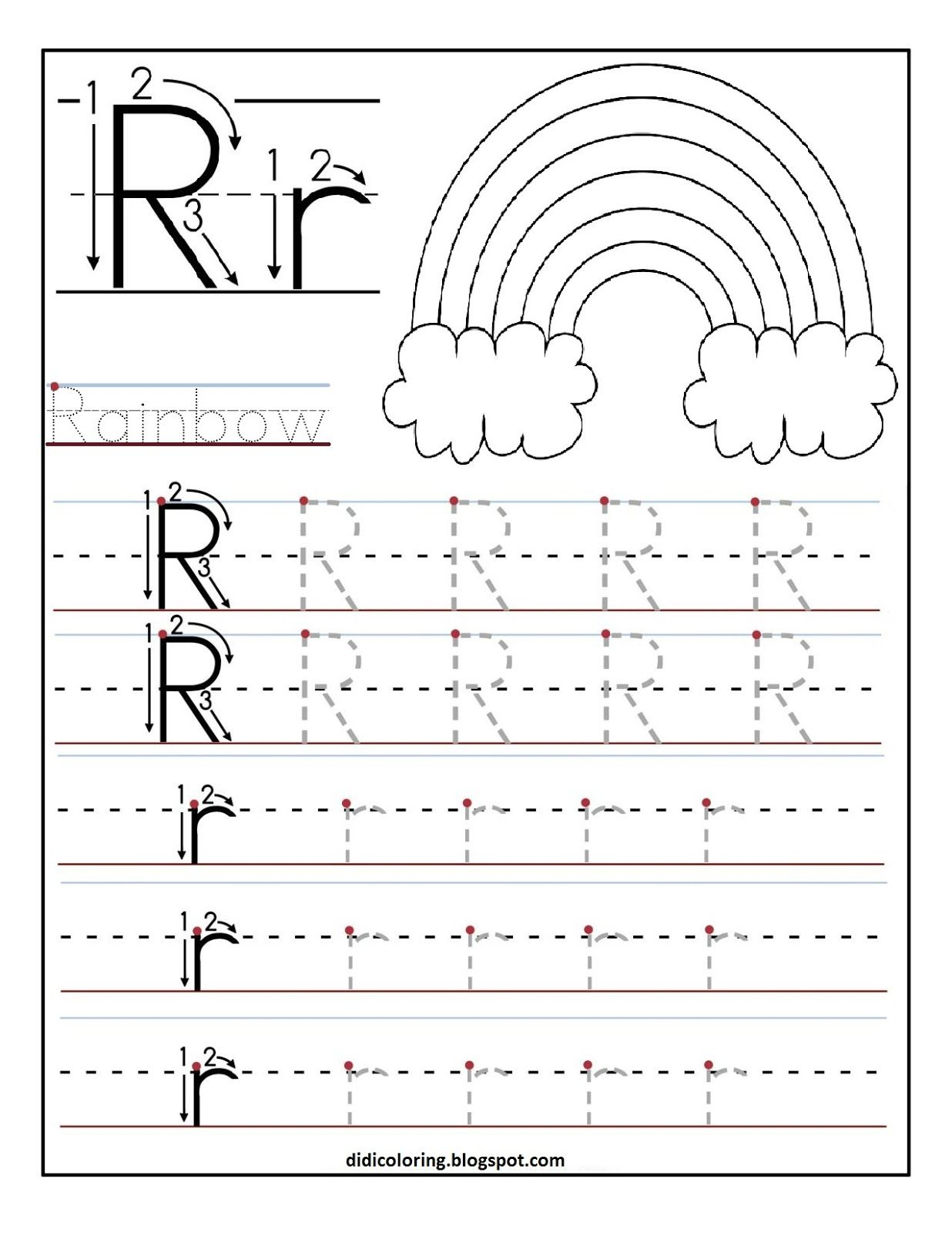 Printable Letter R Tracing Worksheets For Kids 1 236