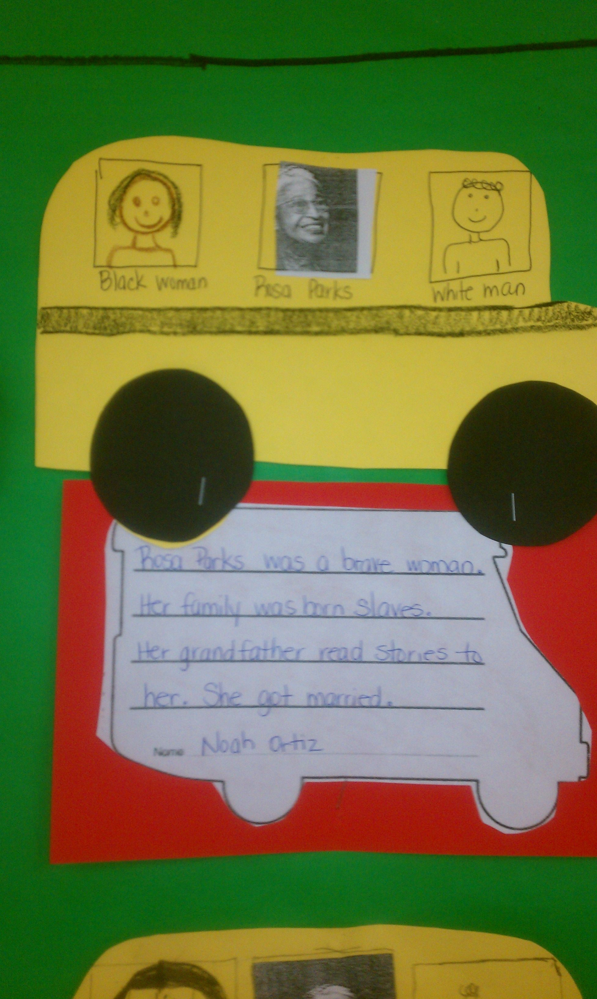Rosa Parks Writing Activity