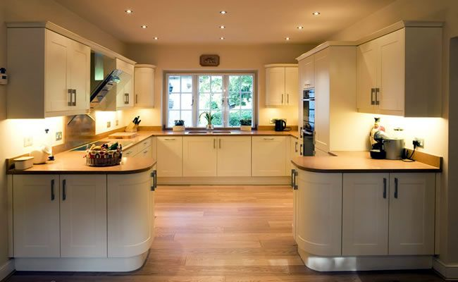 view of c shaped kitchen with window on far back wall and symmetrical layout to right and left on c kitchen id=13452
