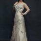 New gown party prom evening long dress cream ivory boutique lace