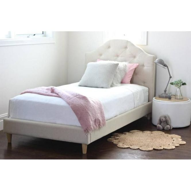 Mia King Single Upholstered Bed