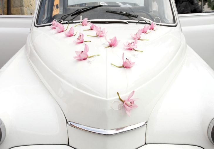 Single Flowers Wedding Car Decoration Silk Orchids Real Touch uac
