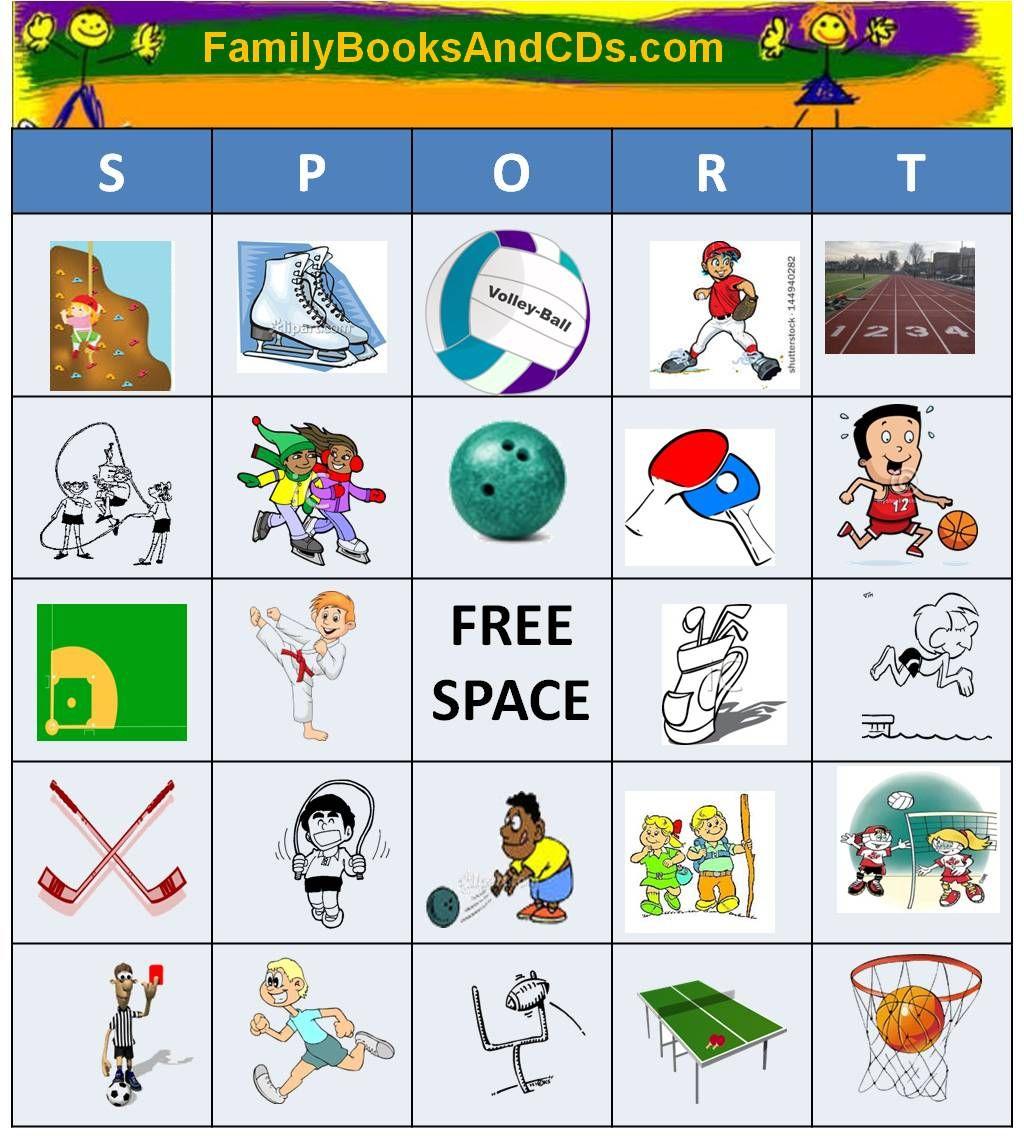 Sport Bingo Everyone Loves Bingo Have Fun Calling Out