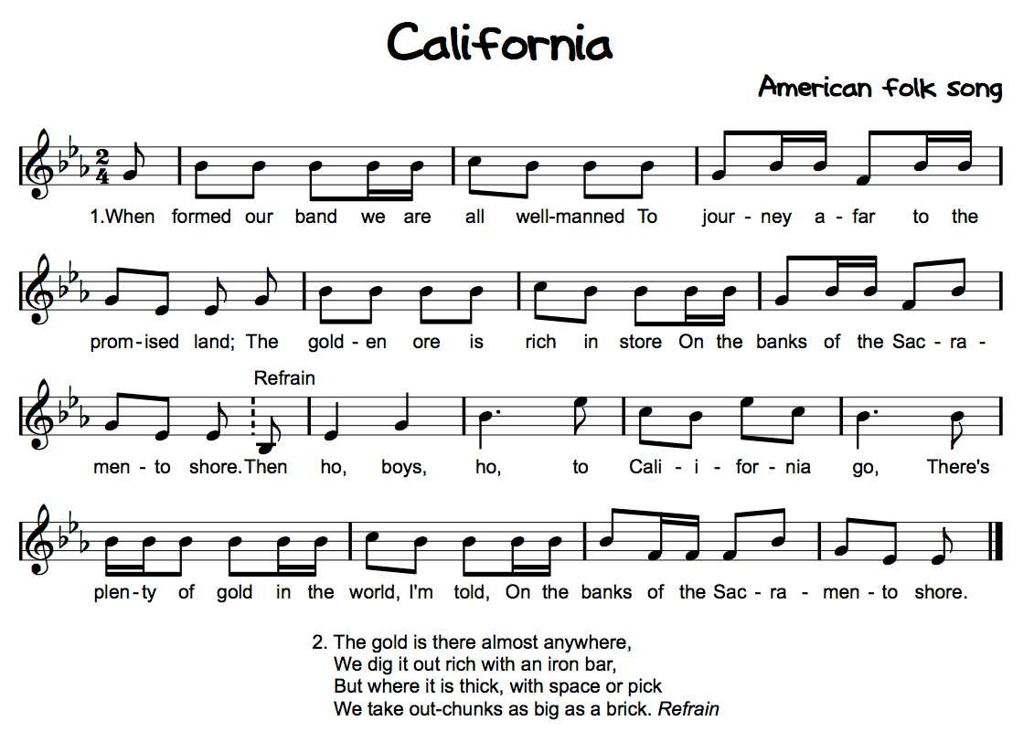 California Good Cross Curriculum Song Beth S Music