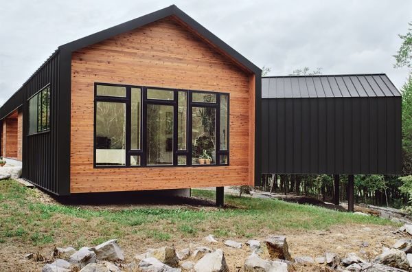 Gabled structure with metal cladding RENO Pinterest