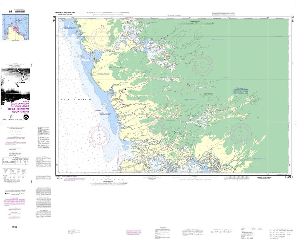 Noaa Nautical Chart Everglades National Park Shark River To Lostmans River