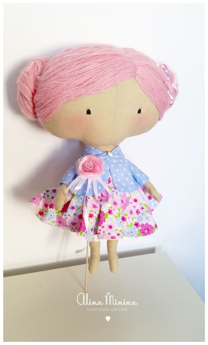 Tilda sweetheart doll hand made textile toys and dolls by Alina