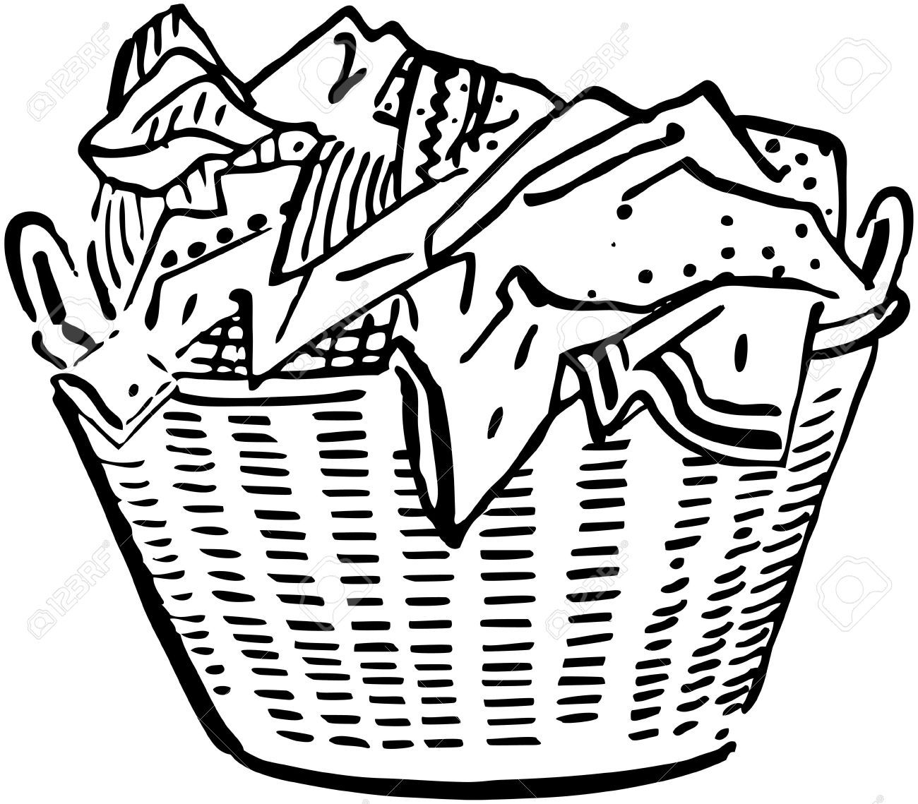 Laundry Basket Royalty Free Cliparts Vectors And Stock