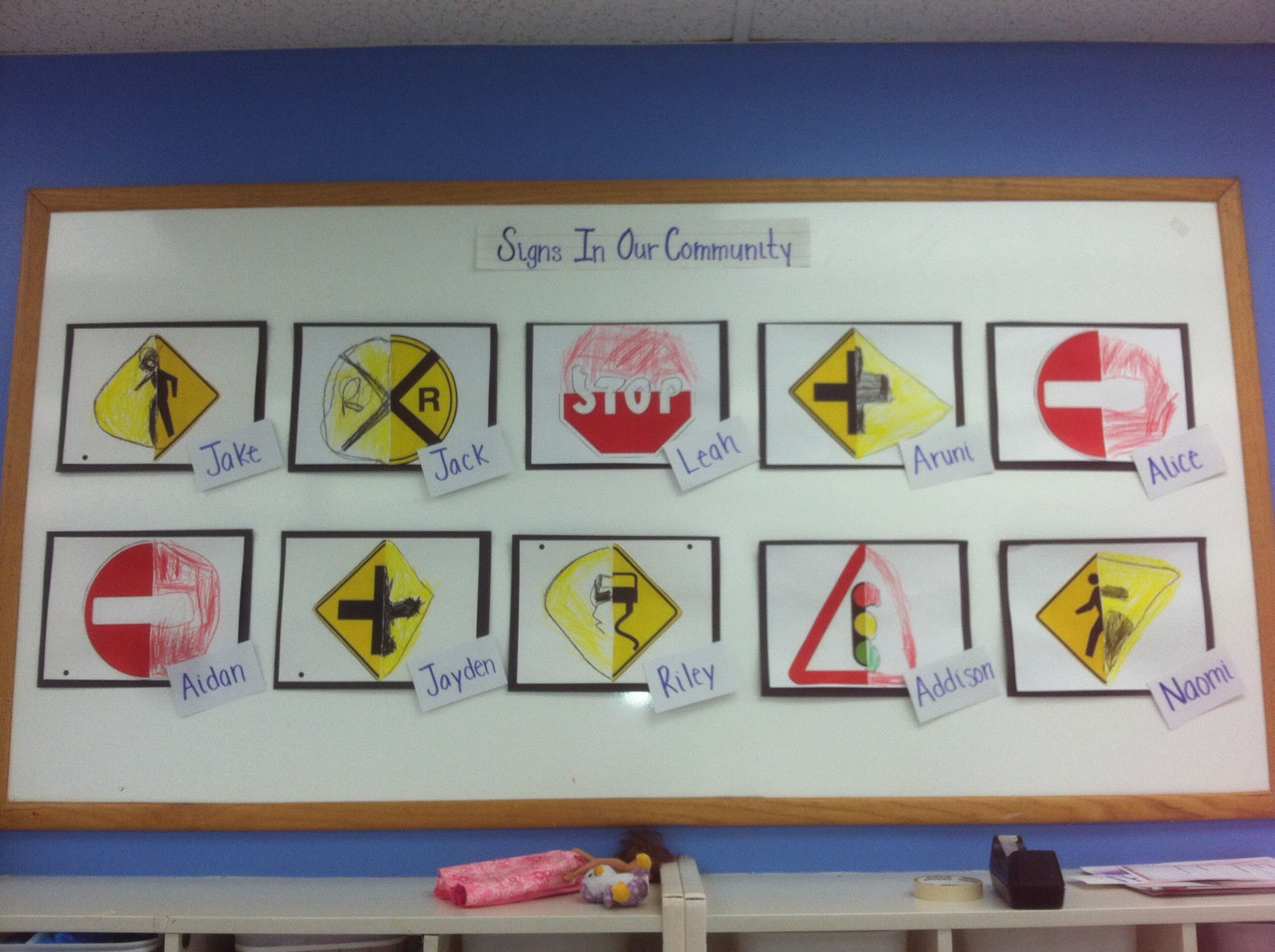 Traffic Signs Community Art Projects For Preschoolers