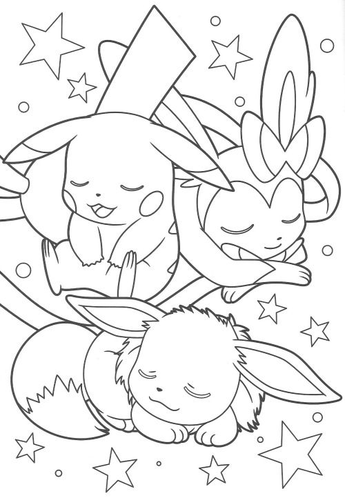 pikachu and eevee friends coloring book (end)  anime