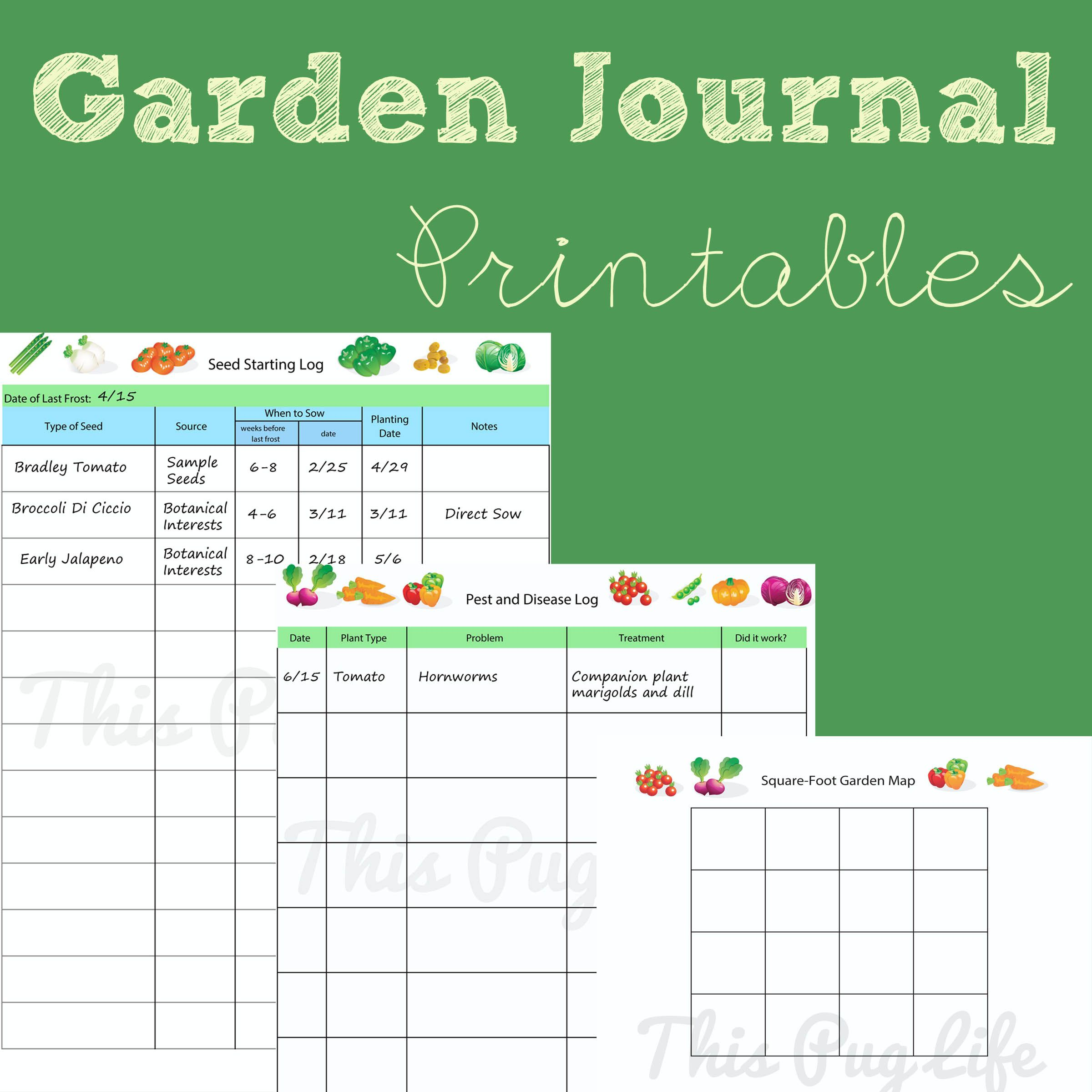 Garden Journal Printables Updated