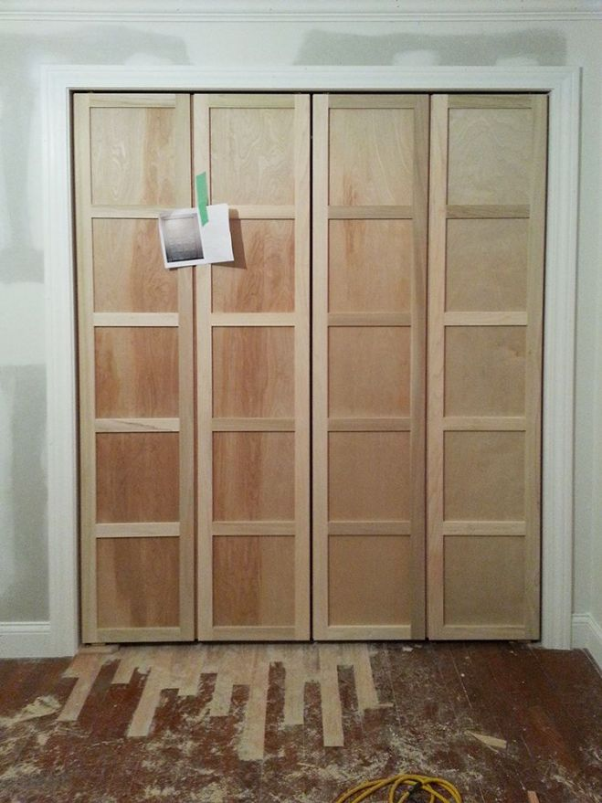 Fancy up some bifold doors by adding trim stripsgibson