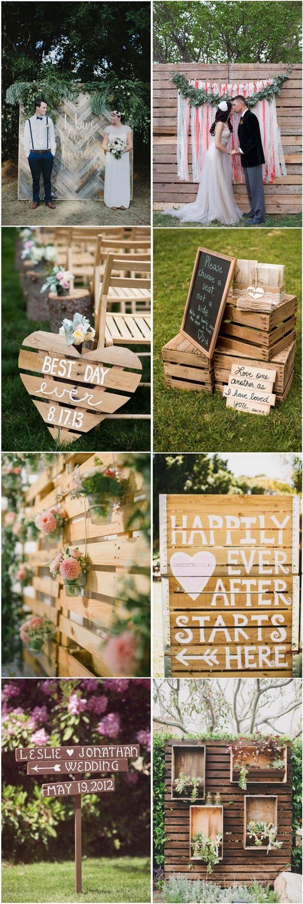 rustic country wood pallets wedding decor ideas  Deer Pearl Flowers