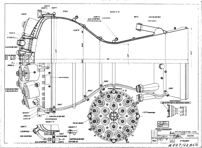 V 2 Missile A 4 Rocket Engine Combustion Chamber Cut Away