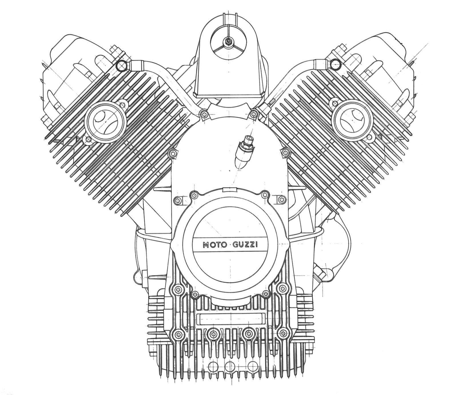Moto Guzzi California Ii Engine