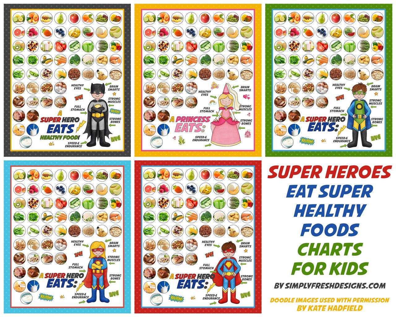 Healthy Eating Charts For Kids Only At Simplyfreshdesigns