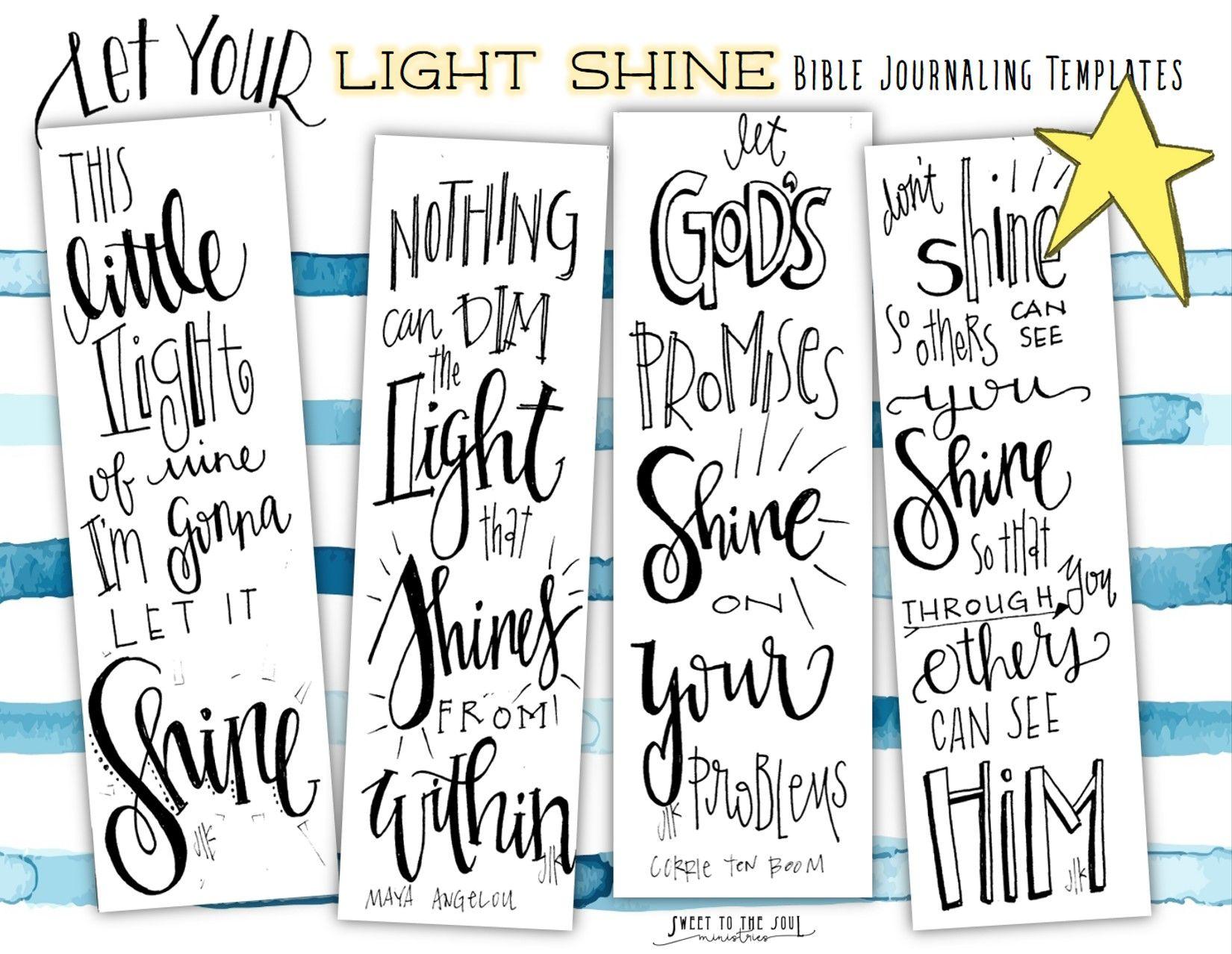 Free Bible Journaling Templates Let Your Light Shine