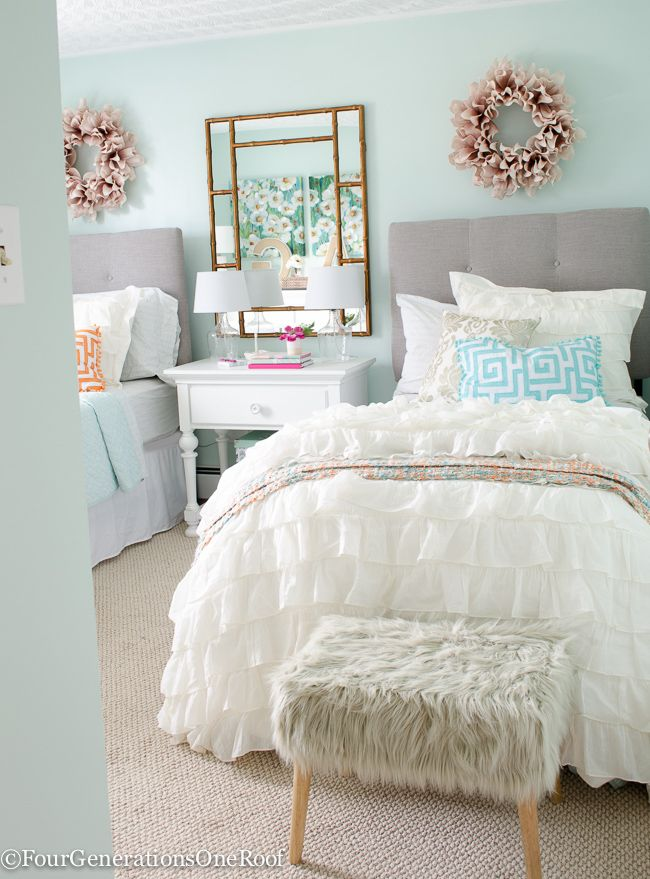 sophisticated girls bedroom teen makeover neutral color on cute bedroom decor ideas for teen romantic bedroom decorating with light and color id=18690