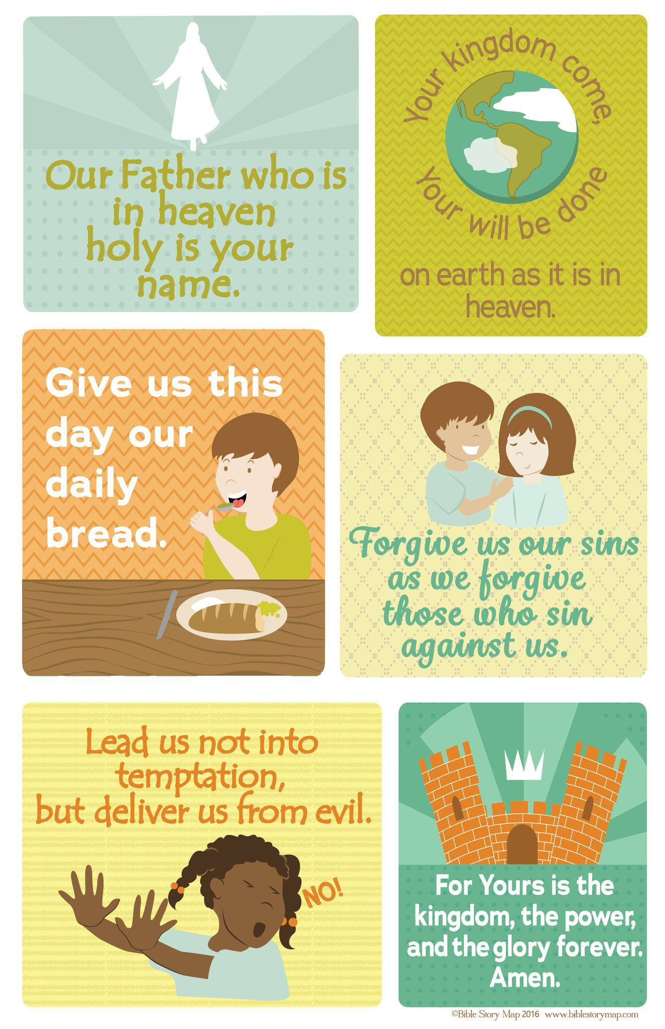 The Lord S Prayer Poster For Kids 18 X 24