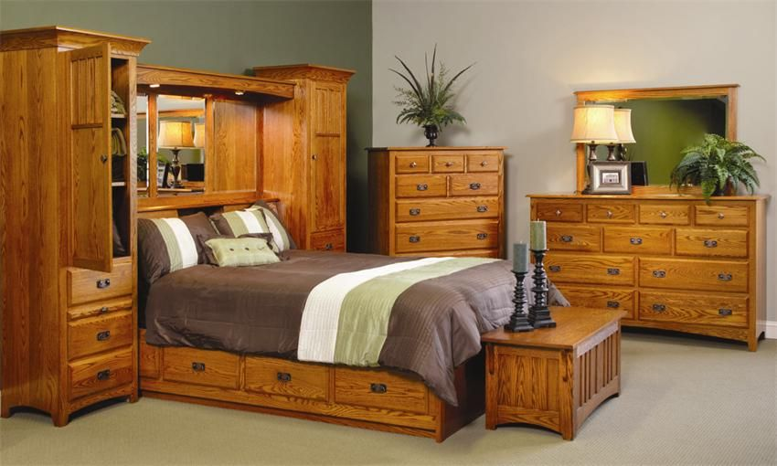 amish monterey pier wall bed unit with platform storage on wall beds id=70001