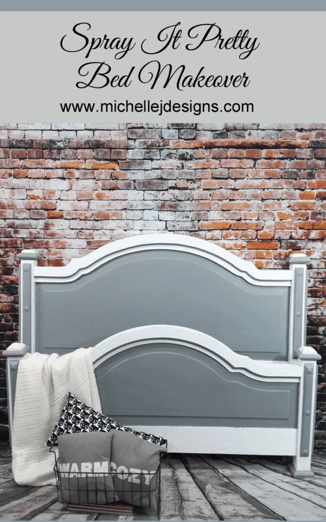 Classic White vs Classic Black Painted Headboard   I M H O M E     A Pretty Headboard Foot Board Makeover That Will Make Your Head Spin