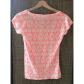 J Crew Ikat Layering Tee coral and white j crew Short sleeves