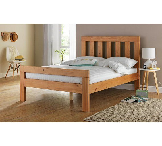 Collection Chile Small Double Bed Frame Oak Stain At Argos Co Uk