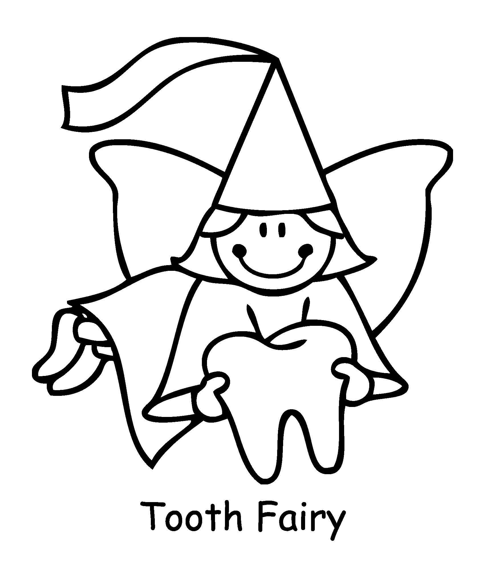 Coloring Pages For Tooth Fairy