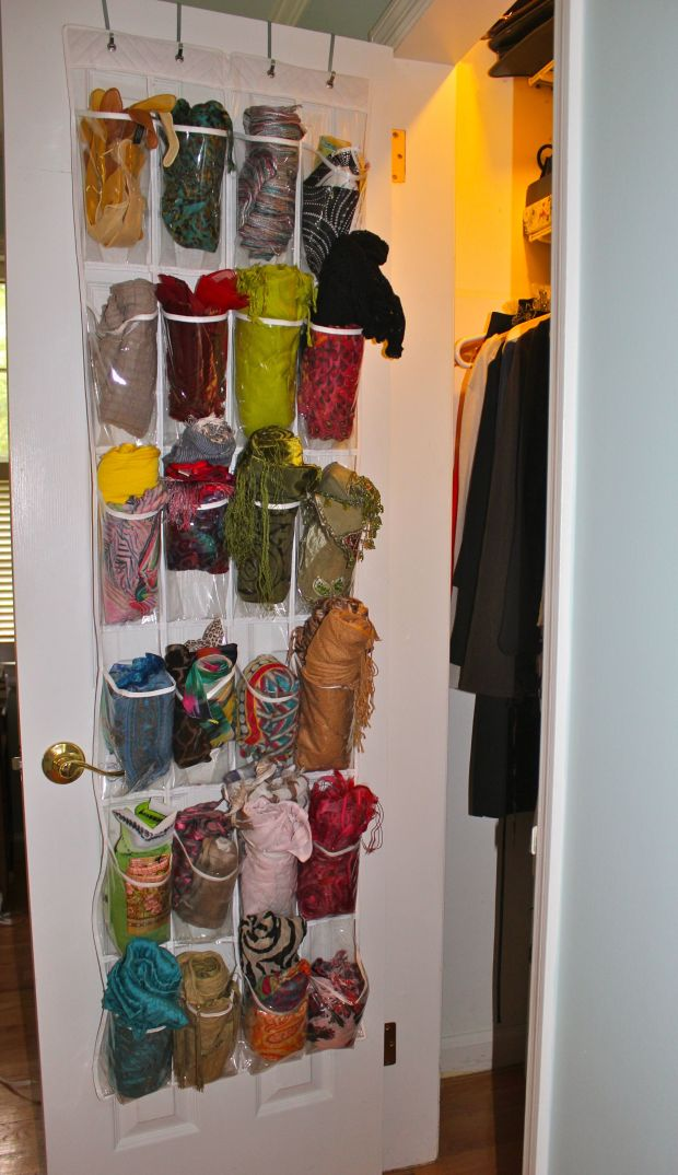 25 ingenious ways to use shoe bags (but not for shoes)! Organize your scarves