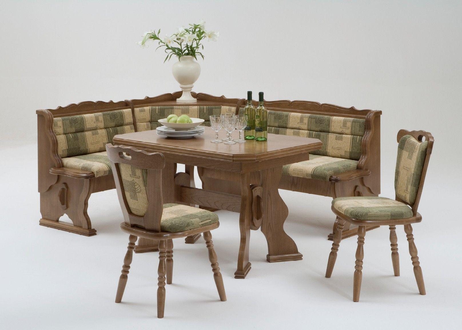Mara Oak Dining Set Corner Bench