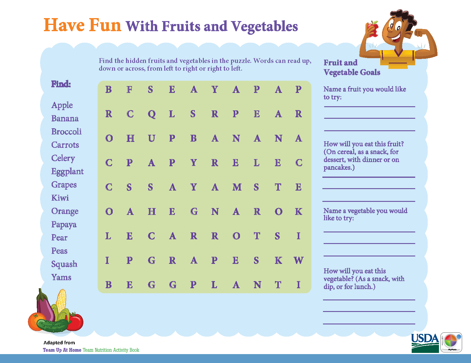 Have Fun With Fruits Amp Vegetables In This Myplate