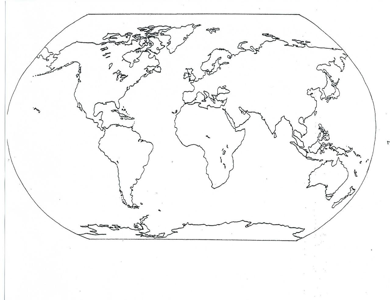 World Map Coloring Page 05