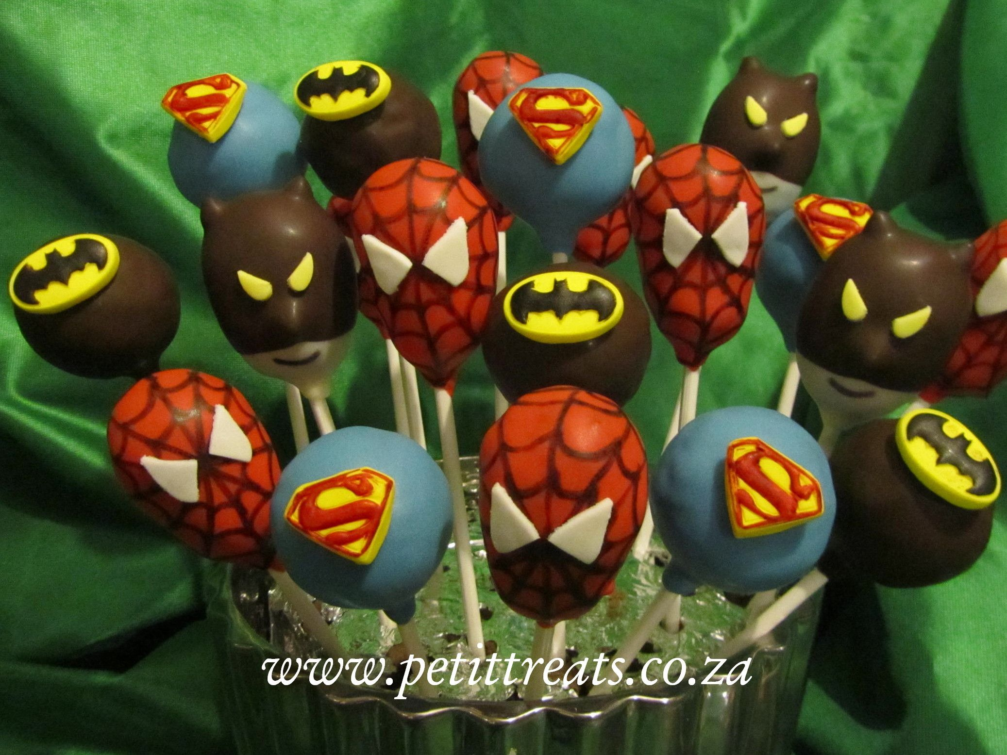 Superhero Character Cake Pops
