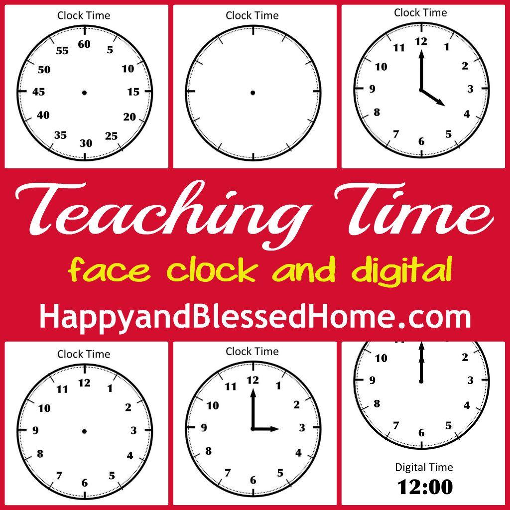Tell Time Preschool Learning