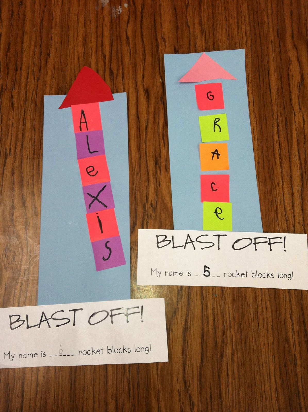 Ms Solano S Kindergarten Class Painted Rocket Ships