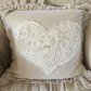 Shabby love pillow w lace pillows pinterest pillows shabby