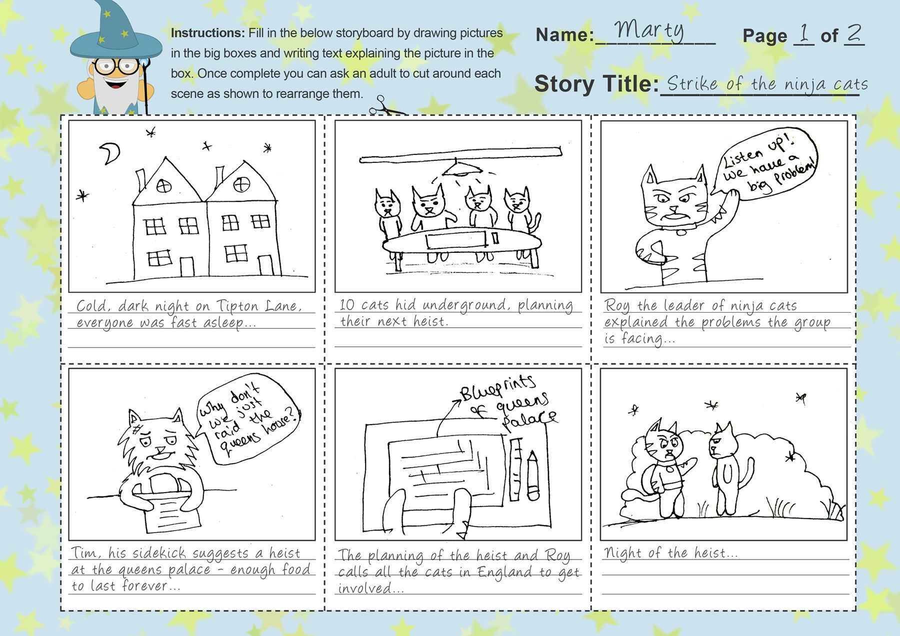 Using Storyboards To Write Stories Free Storyboard