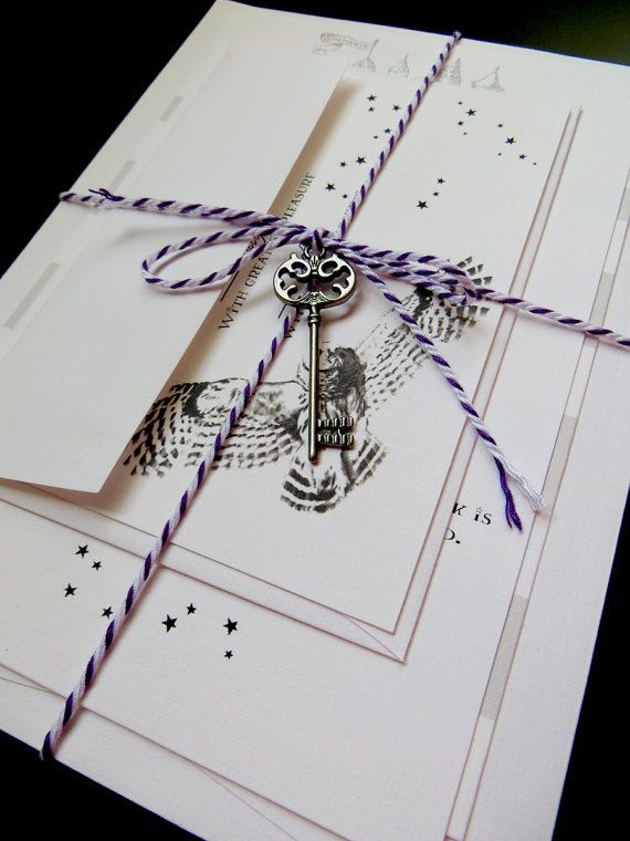 harry potter wedding invitations invitaciones de boda estilo - Harry Potter Wedding Invitations