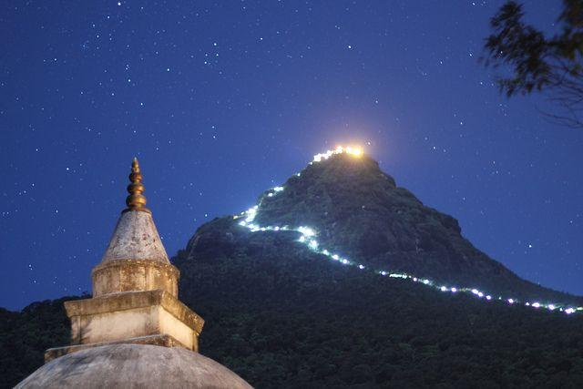 Puncak Sumana/Adam's Peak. Foto: Pinterest