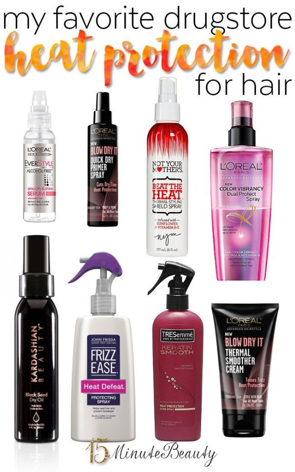 My Favorite Drugstore Heat Protectants for Hair