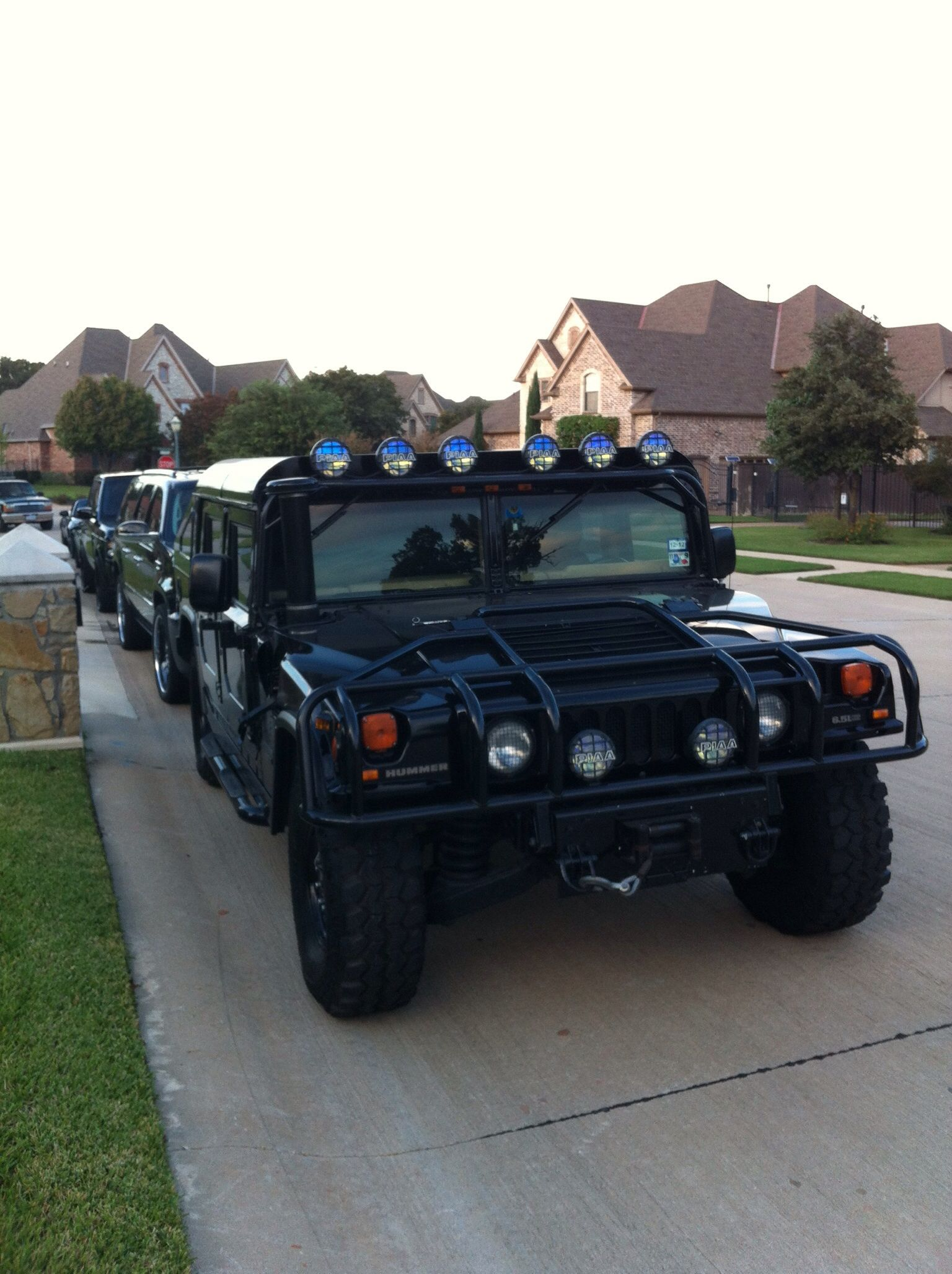 Custom H1 Slant Back Hummer Black Supercharged