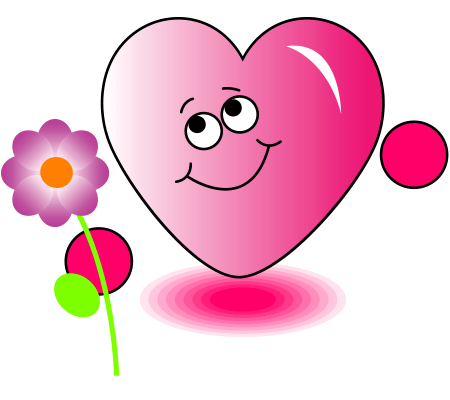 Heart With Flower Emoticon Flower And Smiley
