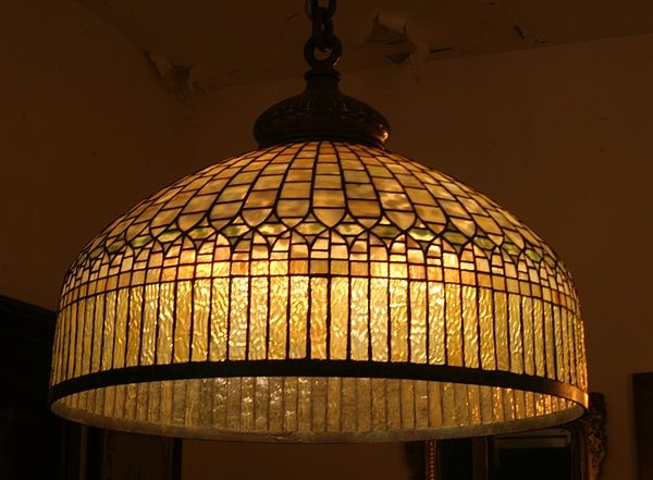 Antique Tiffany Lamps Art Nouveau And Chandeliers Stained Beveled Glass