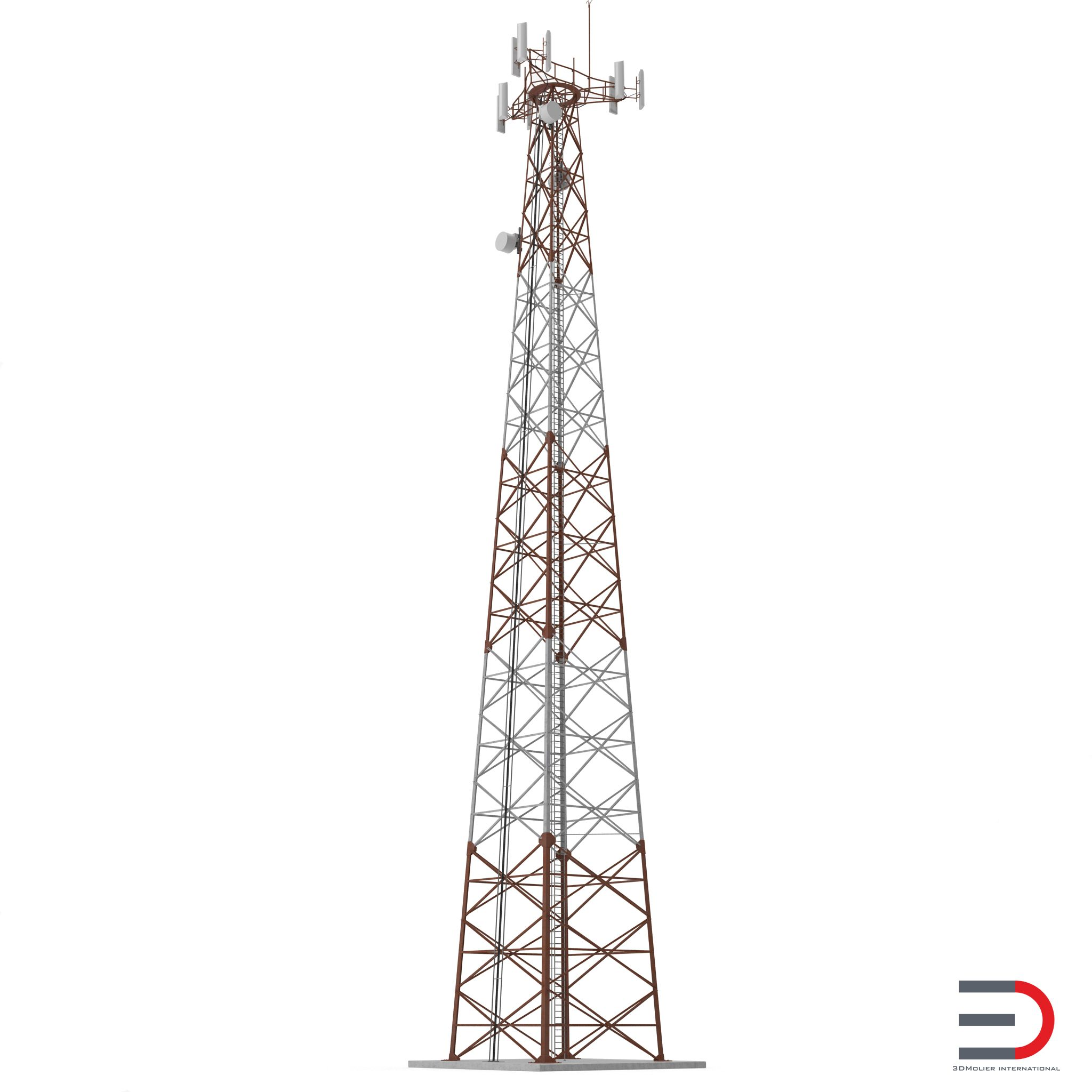 Cellphone Tower 3d Model Turbosquid 3d